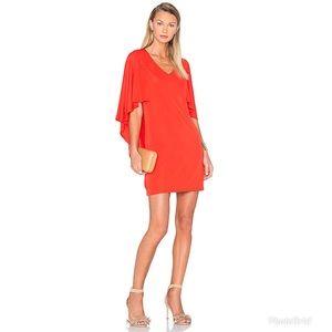 Trina Turk Marino Cape Knit Shift Dress in Red